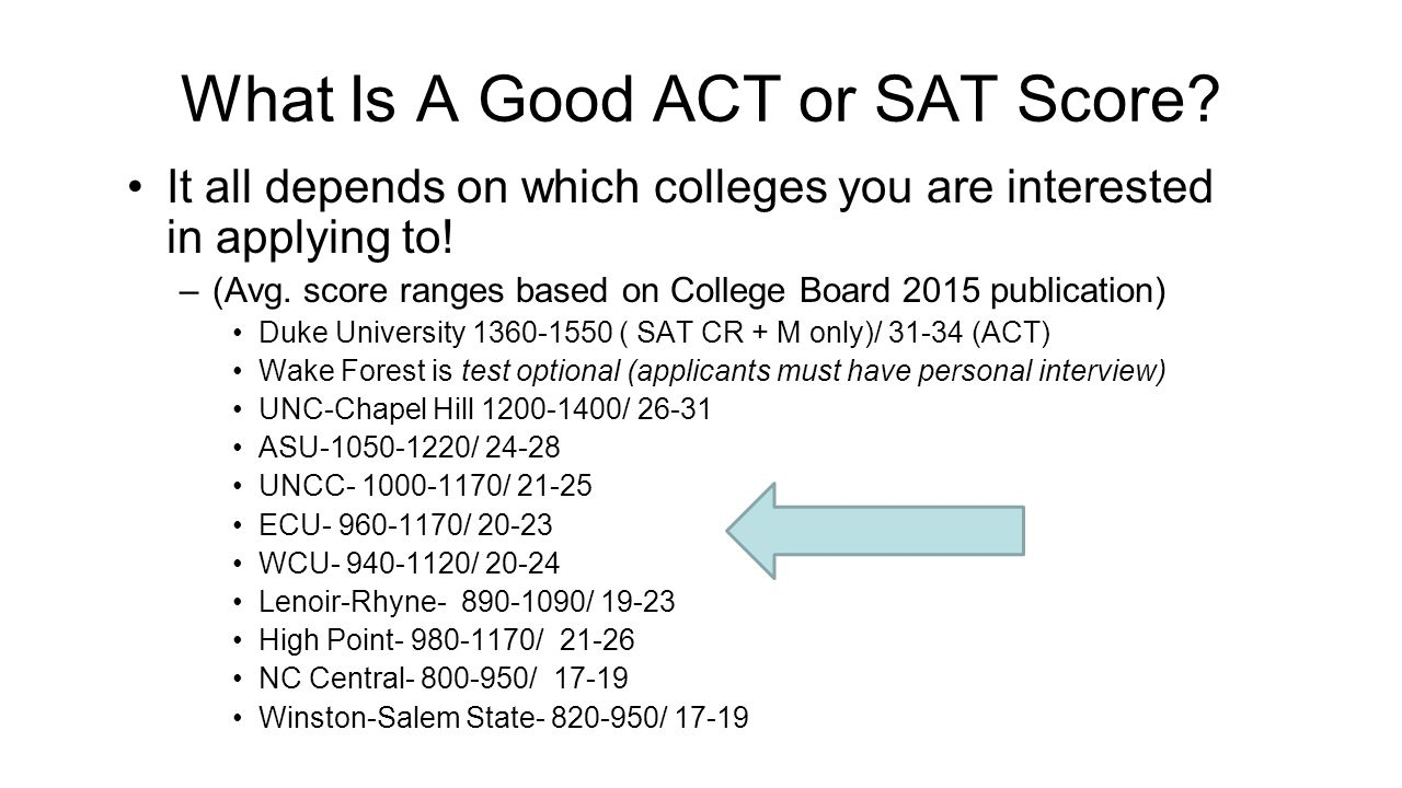 What Is A Good ACT or SAT Score.