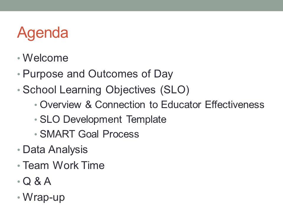 Purposes & Outcomes 1.
