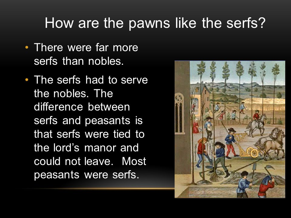 There were far more serfs than nobles.The serfs had to serve the nobles.