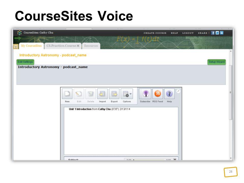 26 CourseSites Voice