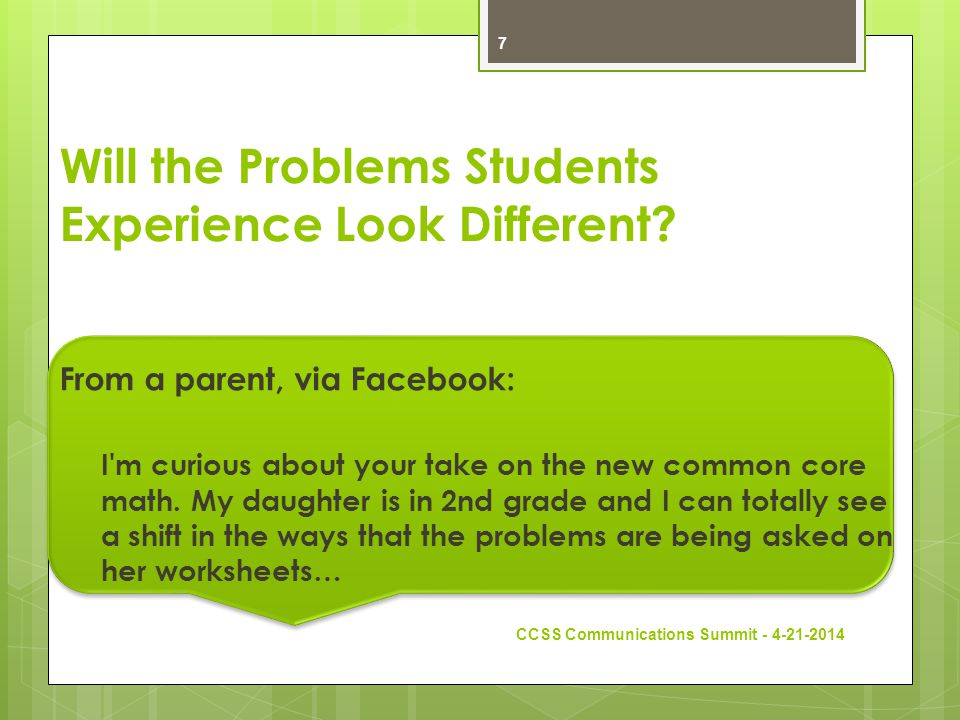 Will the Problems Students Experience Look Different.