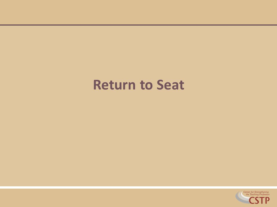 Return to Seat