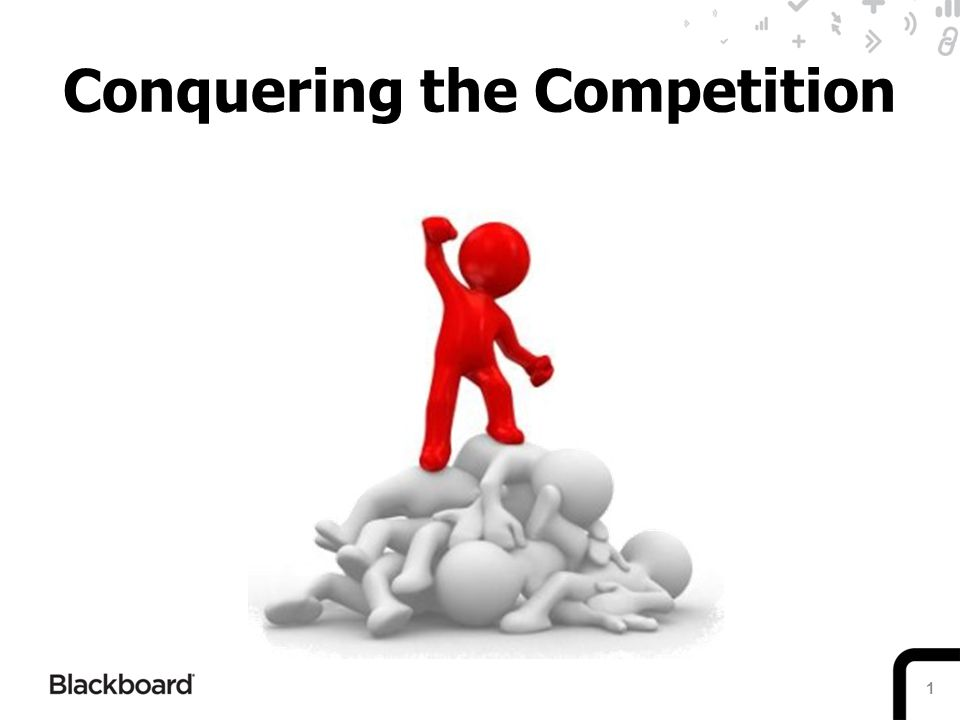 1 Conquering the Competition