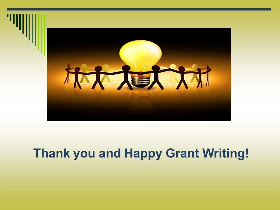 Thank you and Happy Grant Writing!