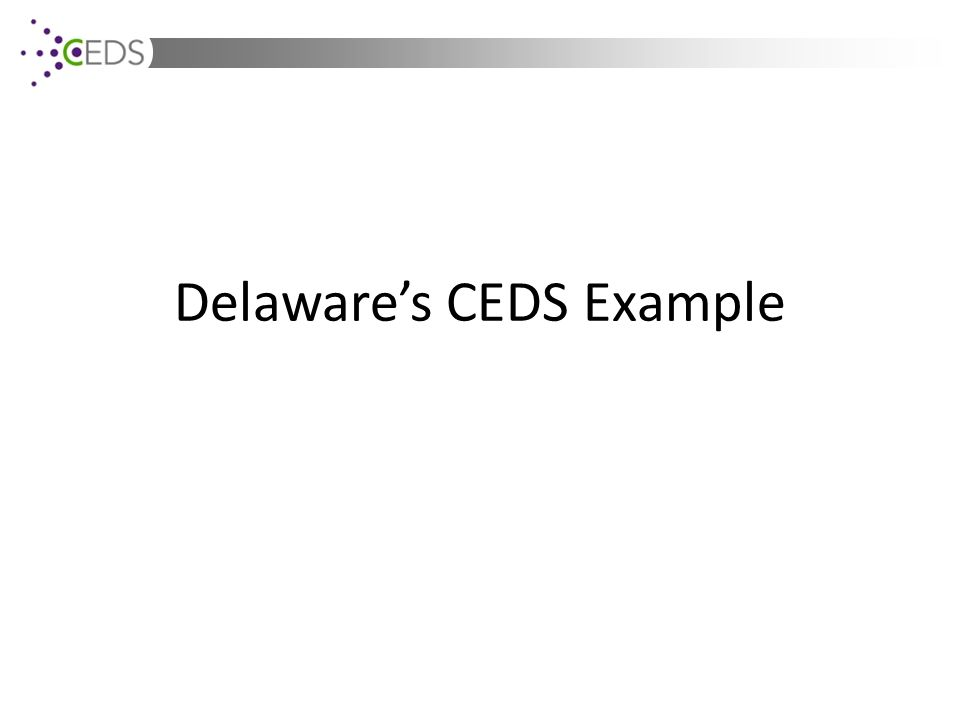 Delaware's CEDS Example