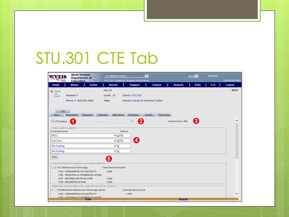 STU.301 CTE Tab