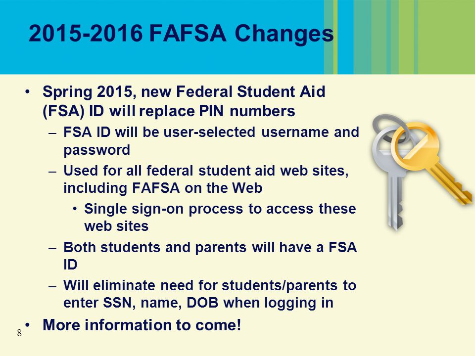 29 Packaging Financial Aid In general, need-based financial aid cannot exceed cost of attendance minus EFC Remaining need after grants and scholarships typically covered by work-study or loans Some forms of financial aid can replace all or portion of EFC (Unsubsidized Stafford Loan, PLUS Loan, certain private scholarships, etc.)