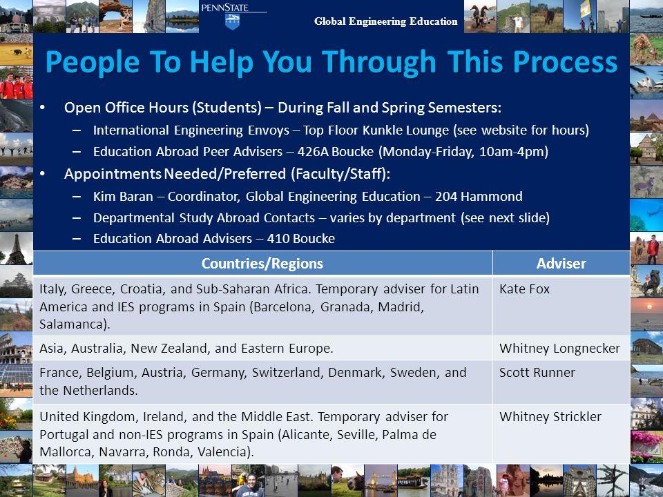 Global Engineering Education People To Help You Through This Process Countries/RegionsAdviser Italy, Greece, Croatia, and Sub-Saharan Africa. Temporar