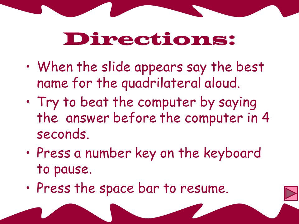 Classifying Quadrilaterals Beat the Computer Drill