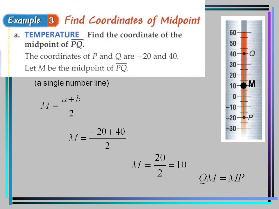 (a single number line) M