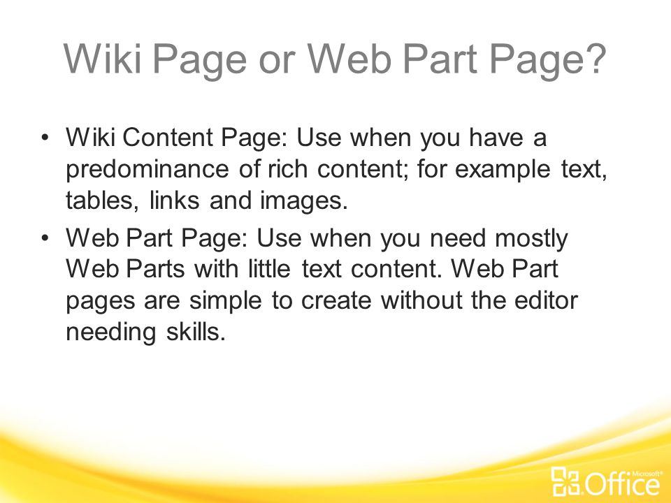 Why a Wiki Library. You may have wondered, why wiki pages.
