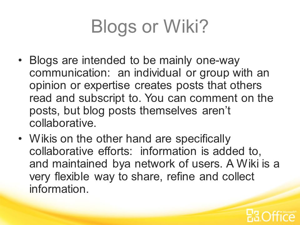 Wiki Page or Web Part Page.