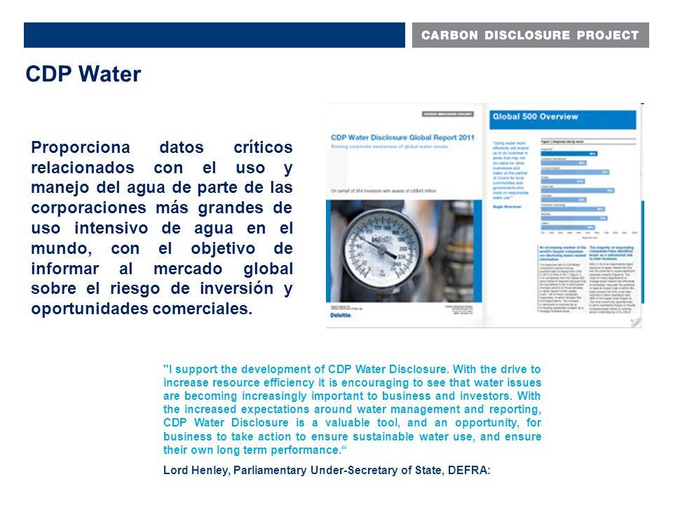 Proporciona datos críticos relacionados con el uso y manejo del agua de parte de las corporaciones más grandes de uso intensivo de agua en el mundo, con el objetivo de informar al mercado global sobre el riesgo de inversión y oportunidades comerciales.