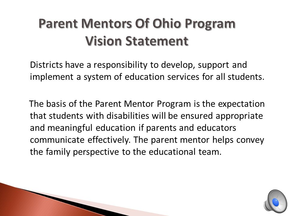 Districts have a responsibility to develop, support and implement a system of education services for all students.