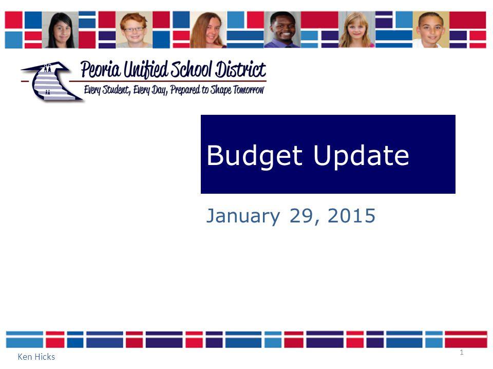 1 Budget Update January 29, 2015 Ken Hicks