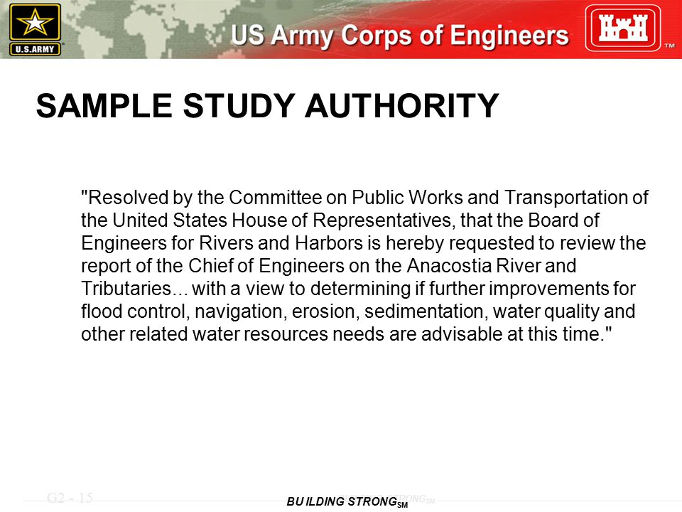 G2 - 15 BUILDING STRONG SM SAMPLE STUDY AUTHORITY