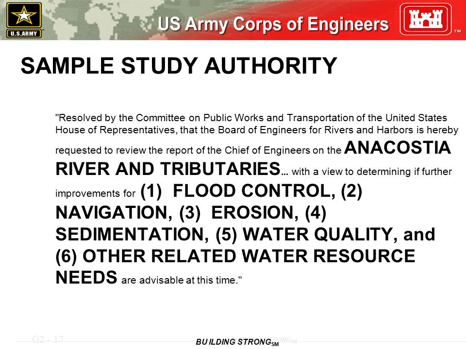 G2 - 17 BUILDING STRONG SM SAMPLE STUDY AUTHORITY