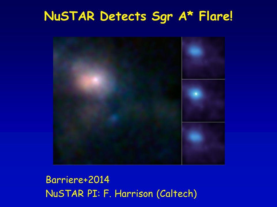 NuSTAR Detects Sgr A* Flare! Barriere+2014 NuSTAR PI: F. Harrison (Caltech)