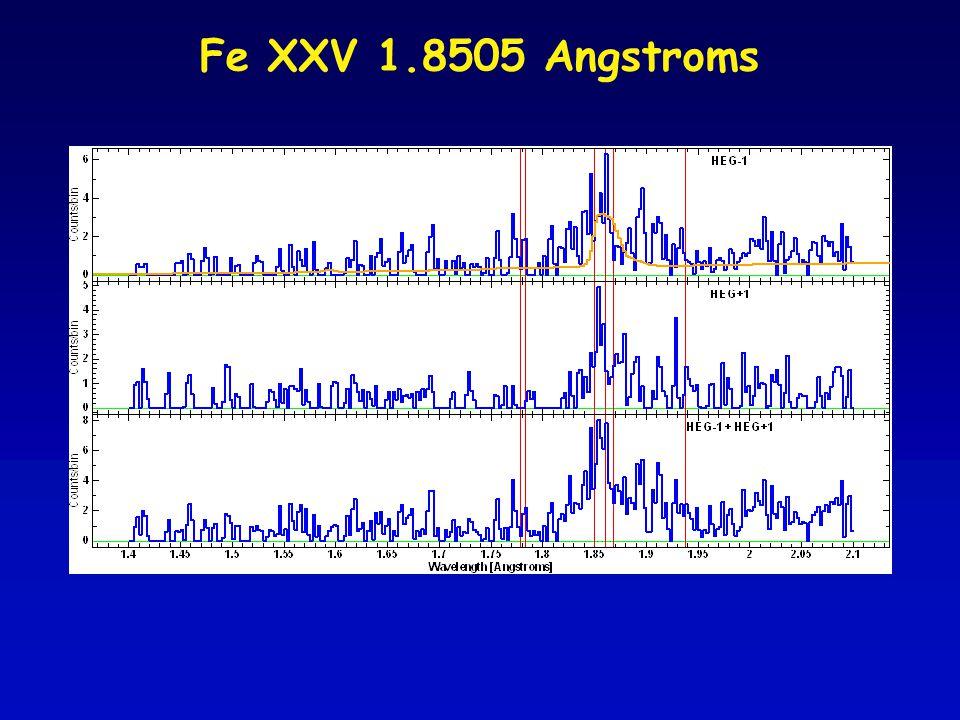 Fe XXV 1.8505 Angstroms