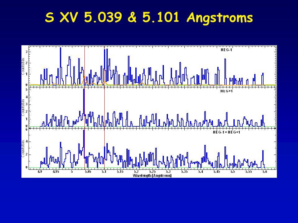 S XV 5.039 & 5.101 Angstroms