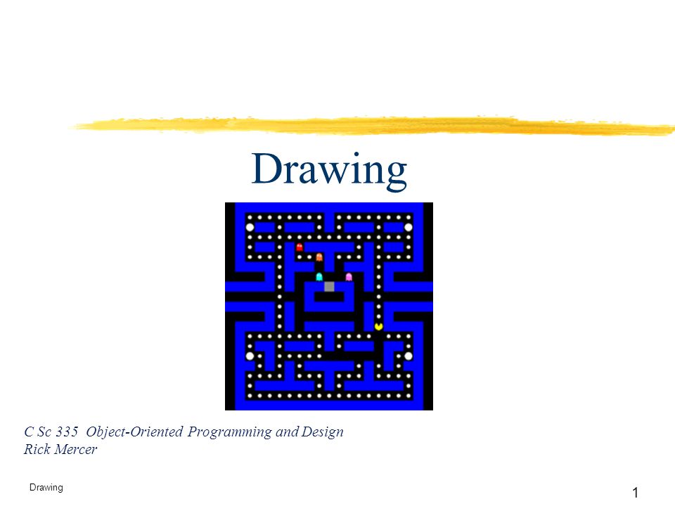 12 Drawing So far…  We know how to subclass a JPanel and use a Graphics2D object as a drawing canvas inside the paintComponent method.