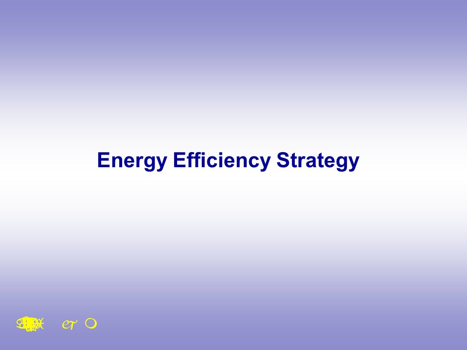 Energy Efficiency Strategy