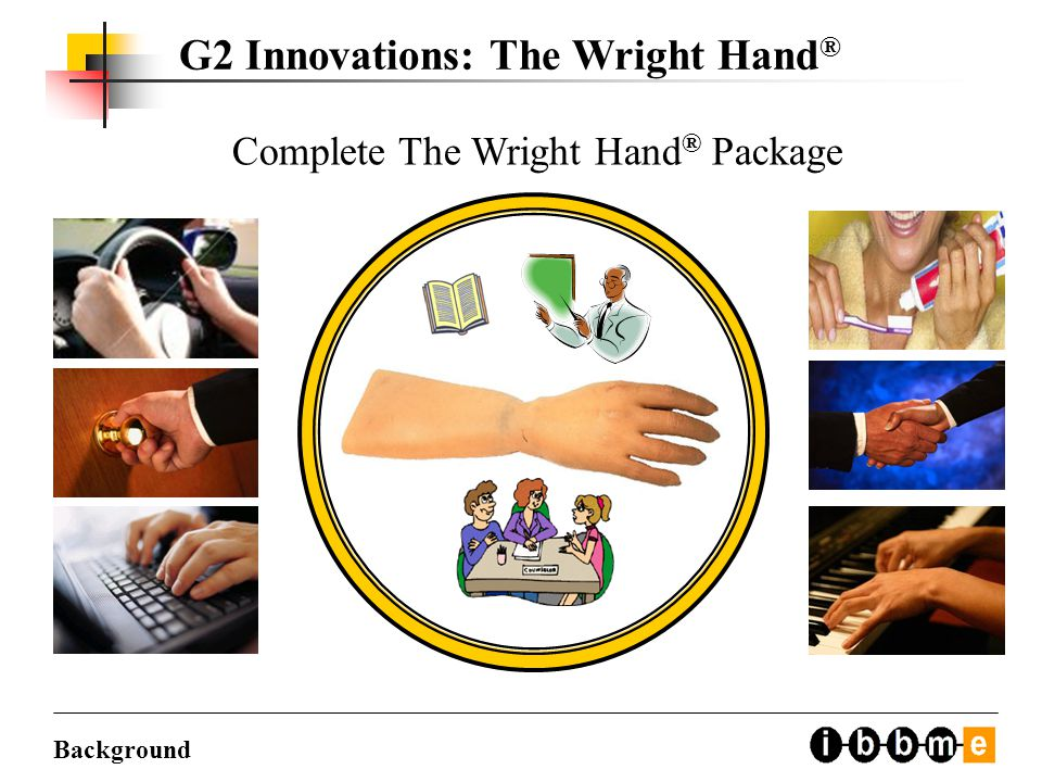 Complete The Wright Hand ® Package Background G2 Innovations: The Wright Hand ®