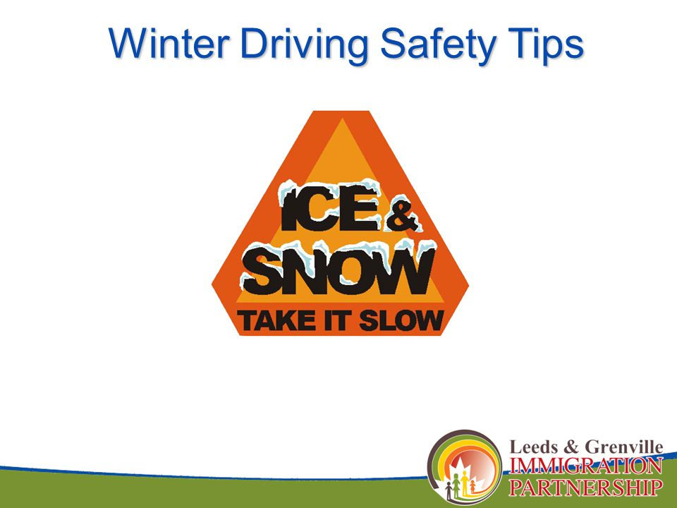 Winter Driving Safety Tips Winter Driving Safety Tips