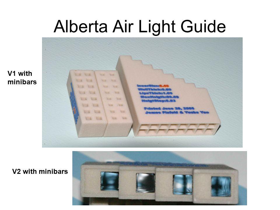 Alberta Air Light Guide V2 with minibars V1 with minibars