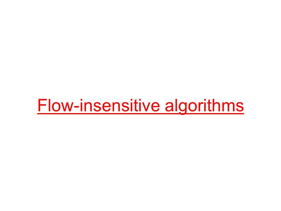 Flow-insensitive algorithms