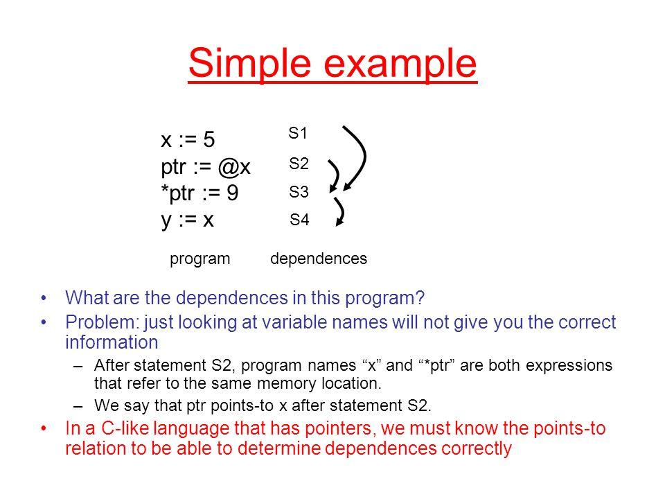 Steensgard's algorithm using set constraints Statements x := &y x := y x := *y *x := y No fan-out