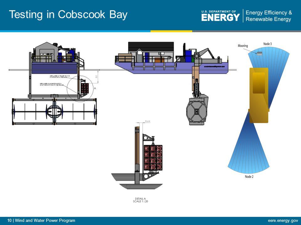 10 | Wind and Water Power Programeere.energy.gov Testing in Cobscook Bay