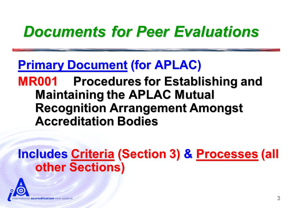 4 Criteria Documents APLAC MR001 calls up … For Accreditation Bodies: (1)  IAF/ILAC A2 (Section 2)  ILAC P1 (Section 5) Which collectively call up (amongst other things) …  ISO/IEC 17011