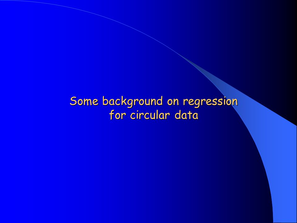 Some background on regression for circular data