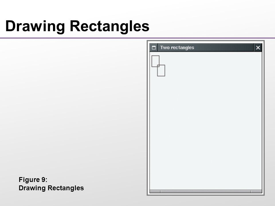 Drawing Rectangles Figure 9: Drawing Rectangles