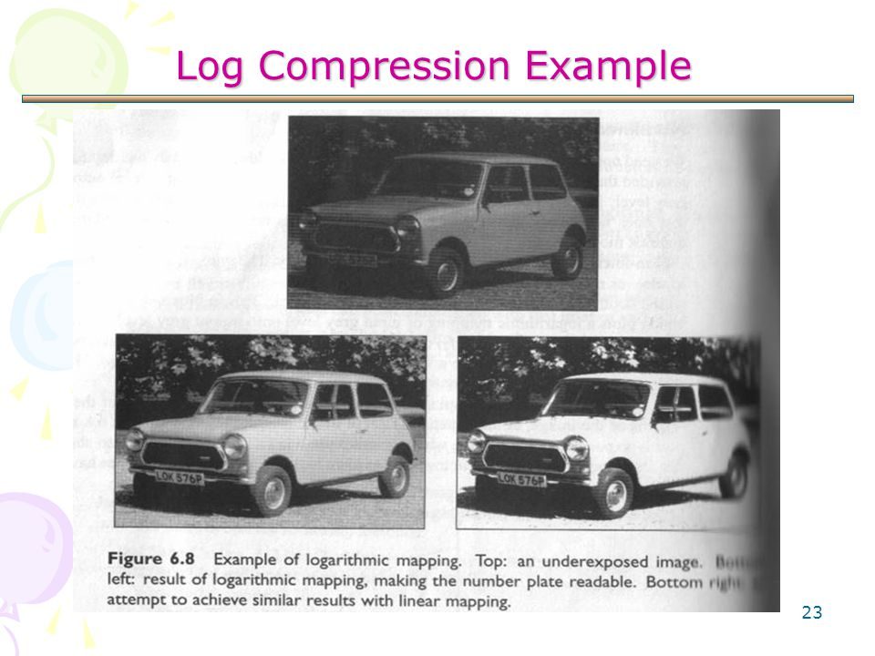 23 Log Compression Example