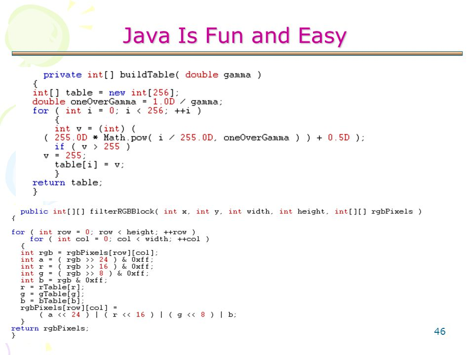 46 Java Is Fun and Easy