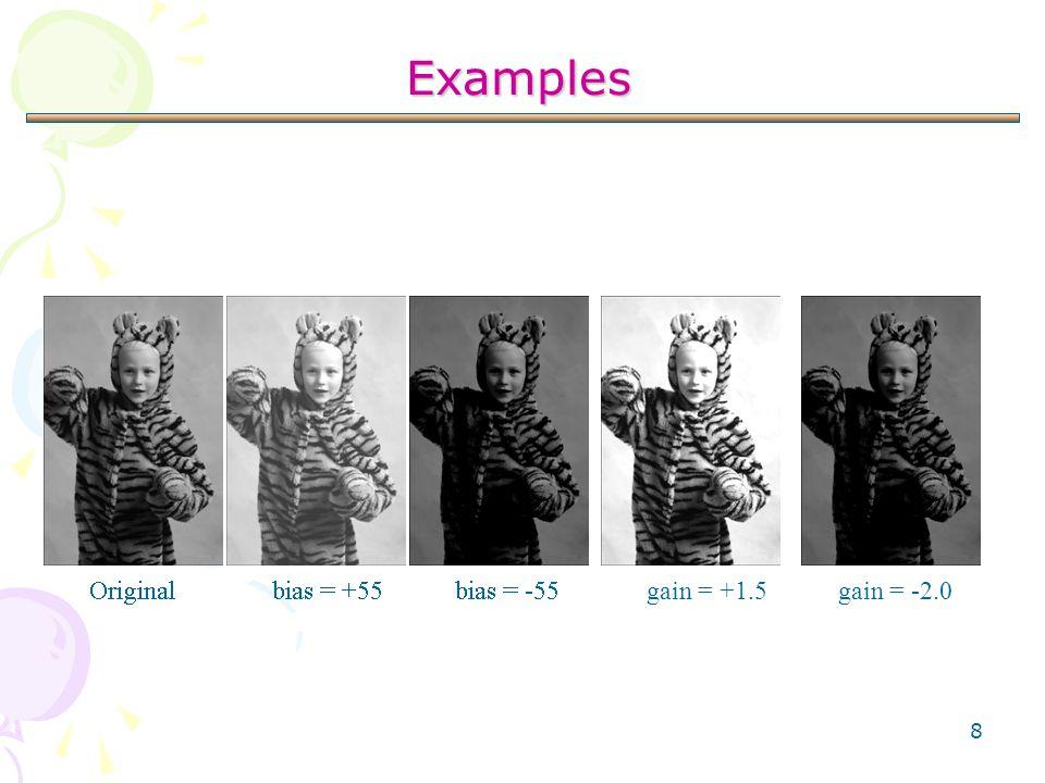 8 Examples gain = +1.5gain = -2.0