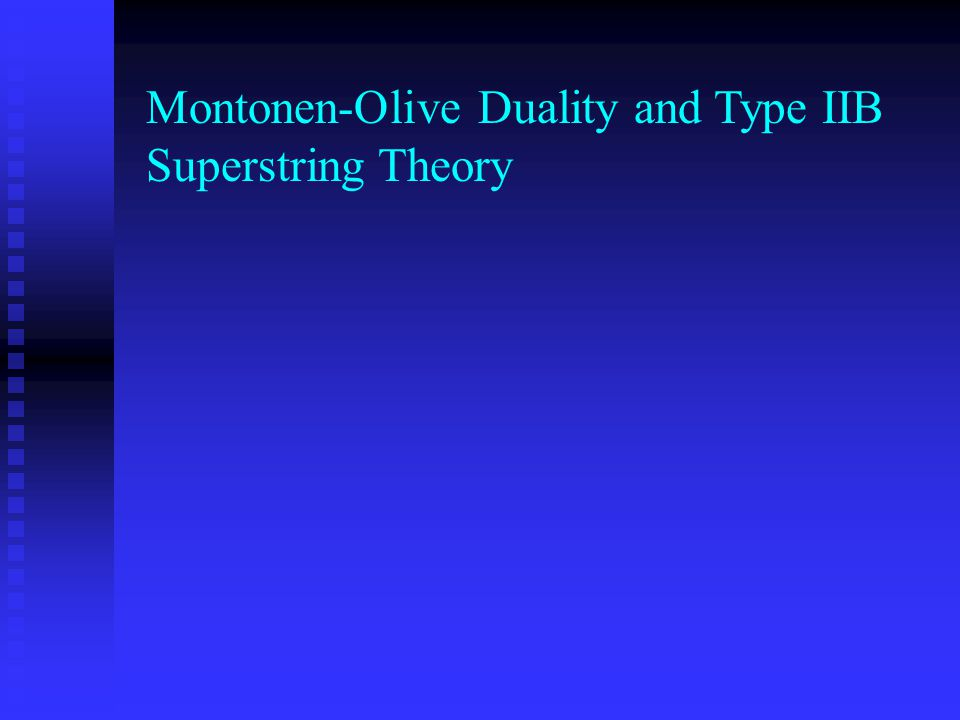 Montonen-Olive Duality and Type IIB Superstring Theory
