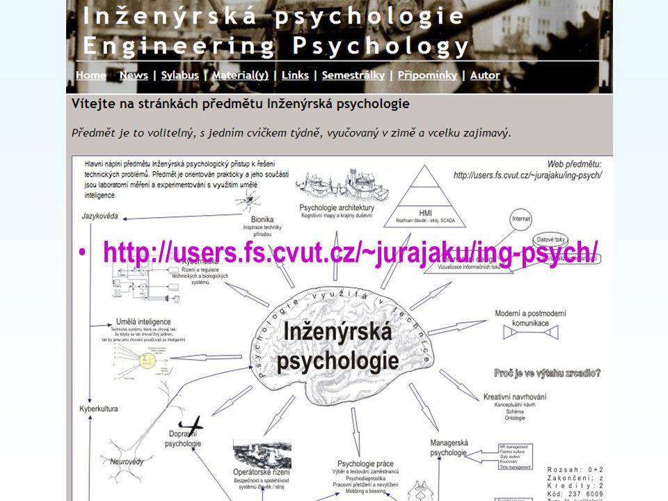 Course website http://users.fs.cvut.cz/~jurajaku/ing-psych/