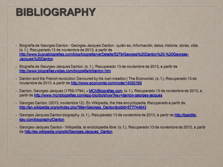 BIBLIOGRAPHY Biografía de Georges Danton - Georges-Jacques Danton - quién es, información, datos, historia, obras, vida.