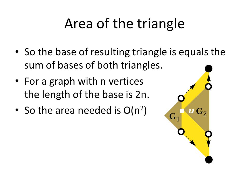 Area of the triangle So the base of resulting triangle is equals the sum of bases of both triangles.