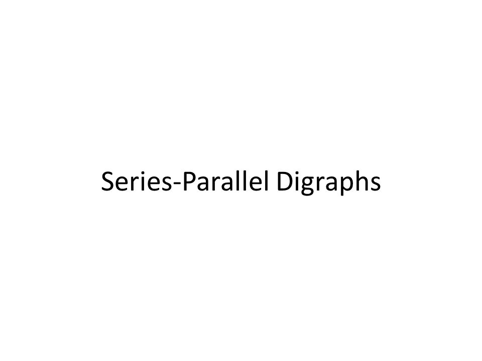 Series-Parallel Digraphs