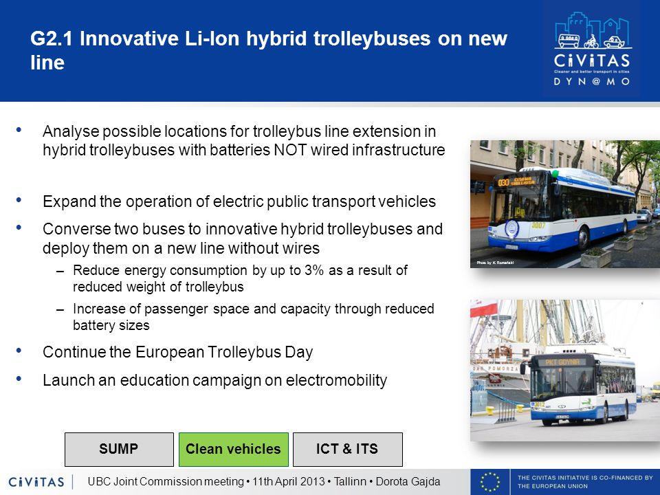 G2.1 Innovative Li-Ion hybrid trolleybuses on new line Analyse possible locations for trolleybus line extension in hybrid trolleybuses with batteries