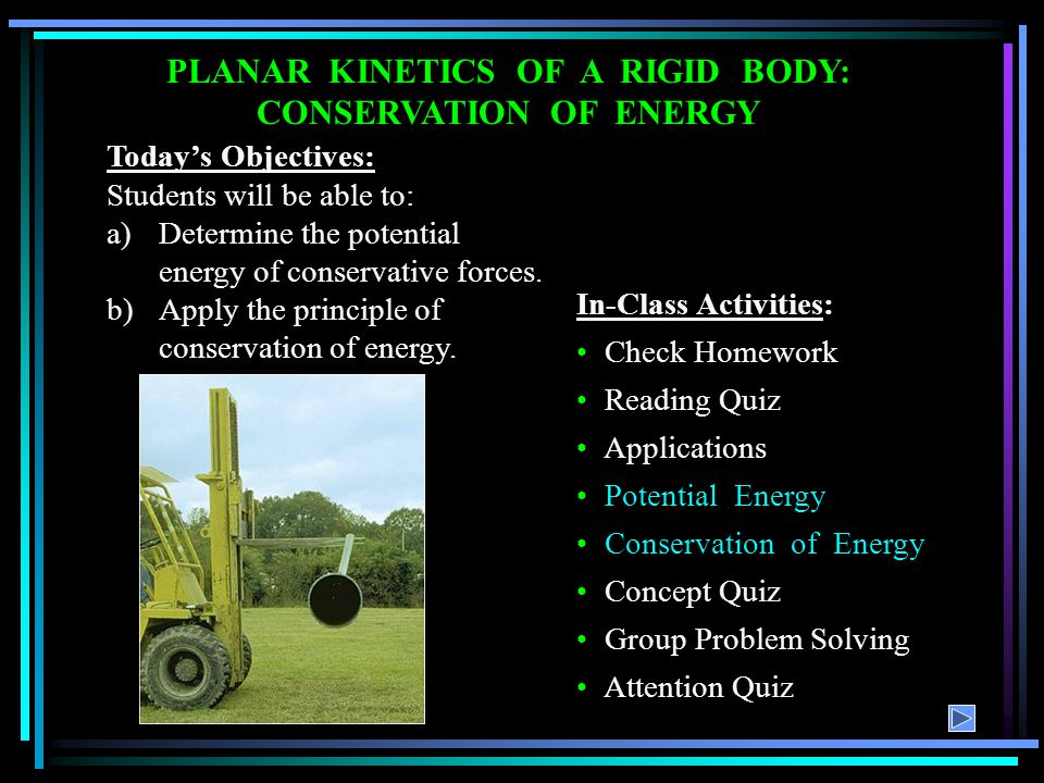 READING QUIZ 1.Elastic potential energy is defined as ___________.