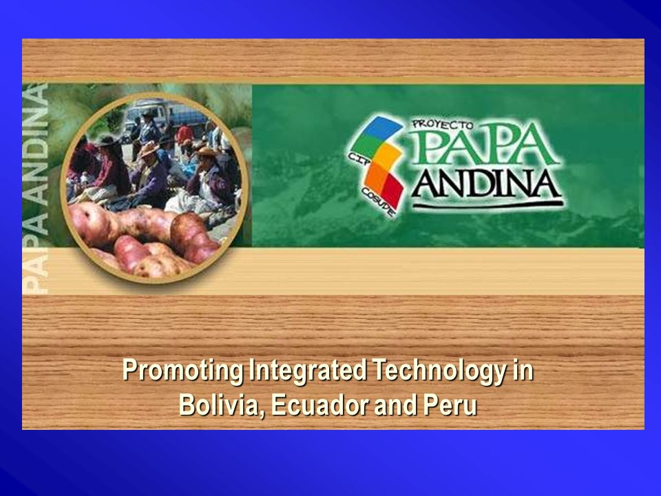 Promoting Integrated Technology in Bolivia, Ecuador and Peru