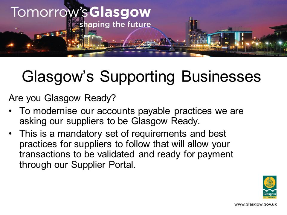 Glasgow's Supporting Businesses Are you Glasgow Ready.