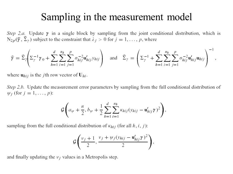 Sampling in the measurement model