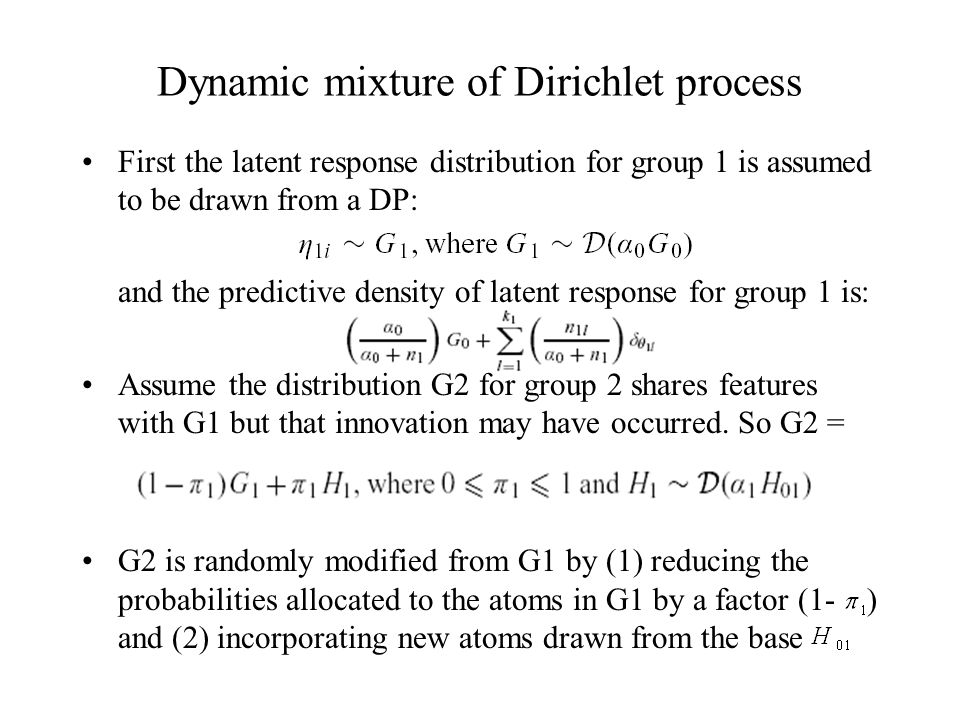 DMDP The difference between G1 and G2 has mean and variance The hyperparameters control the magnitude of the expected changed from G1 to G2.