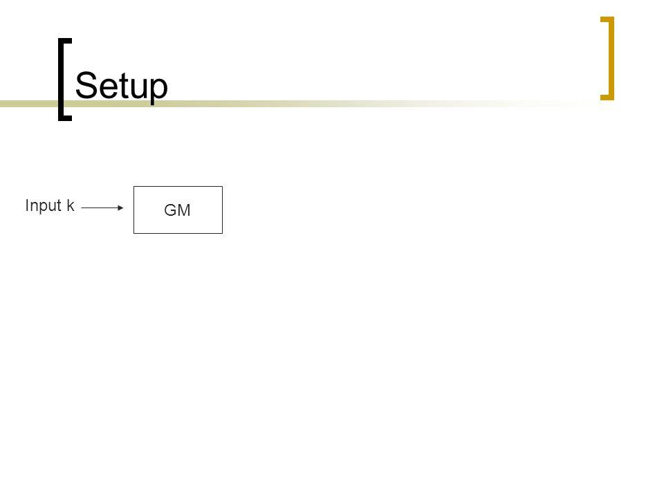 Setup GM Input k